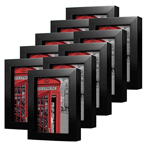 (4x6 inch Black Picture Frame Made to Display Pictures 4x6 Without Mat 10 Pack One Set for Wall & Tabletop Chirstmas Holiday Home Gift)