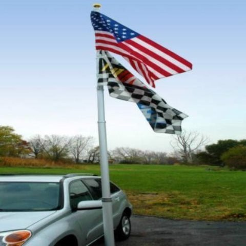 Flagpole To Go 20-Foot Portable Flagpole With US Flag by Flagpole To Go