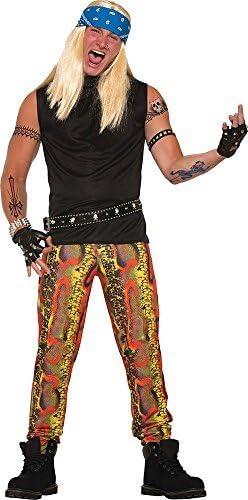 Hombre Años 80 Rock Estrella Disfraz Fiesta De Halloween Piel De ...
