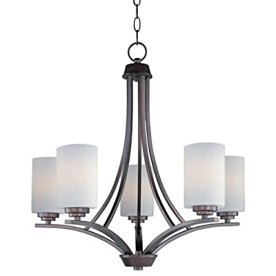 Maxim Lighting Five Light Satin Glass Up Chandelier