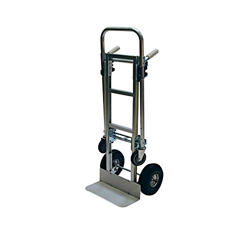 Milwaukee 1000 Lb. Capacity Convertible Modular Aluminum Hand Truck with Twin Pin Handle and 10 Inch Pneumatic Tires. Converts From 2 Wheel Hand Truck to 4 Wheel Platform Cart. Sturdy ()
