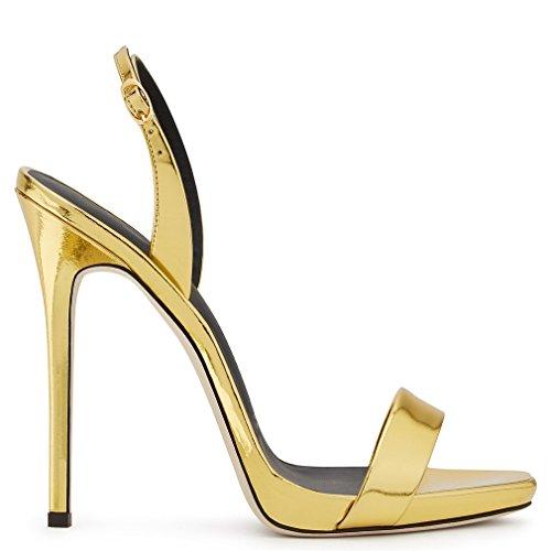 La Lucky a Clover Clásica Bomba Alto Zapatos Shoes Mujeres eu42 Tacón Sandalias 41 Sexy Ladies Corte Peep Toe Eu38 De yellow Aguja rzr57xqwPd