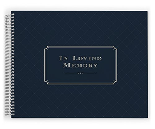 PurpleTrail Guest Book, Funeral Guest Book, Elegant Navy, Remembrance Book, Keepsake by PurpleTrail