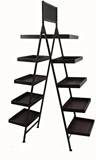 product image for Wald FL5019 Ten Shelf Folding Metal Display With Chalkboard