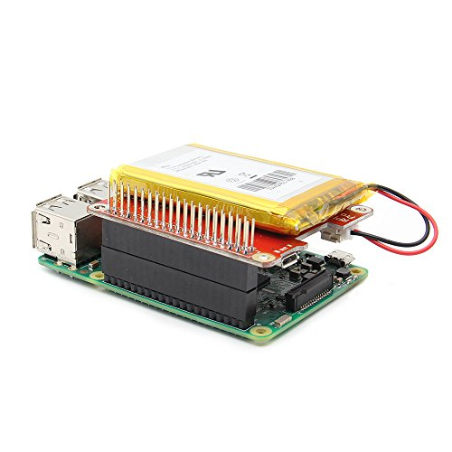 Geekworm Power Pack Pro V1.1 Lithium Battery Power Source UPS Hat Expansion Board for Raspberry Pi