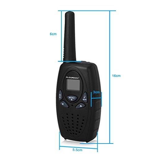 Floureon 22 Channel FRS/GMRS 2 Way Radio 2 Miles (Up to 3 Miles) UHF Handheld Walkie Talkie (Pack of 4, Black)