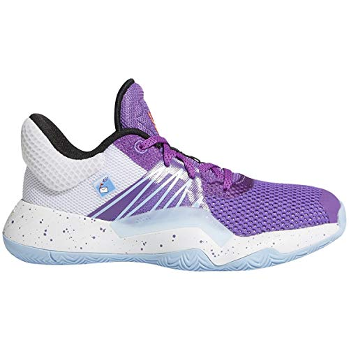 adidas D.O.N. Issue #1 Shoe - Kids Basketball Active Purple/White/Glow Blue