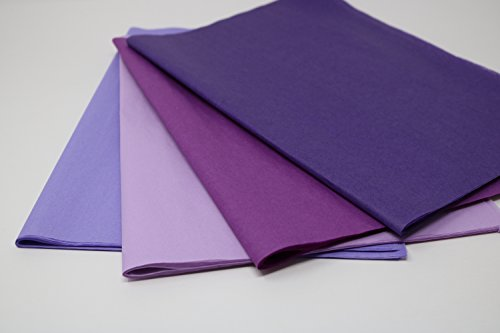 Purple Mix 2 - Gift Wrapping Tissue Paper 96 Sheets 15'' x 20'' | Colors of Rainbow by Colors of Rainbow