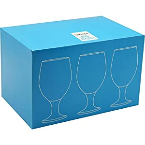 Rink Drink Beer/Craft Ale Glasses – 400ml (14oz) – Gift Box Of 6