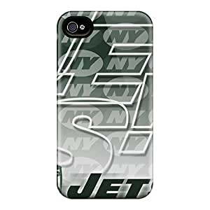 For Iphone 4/4s Premium Tpu Case Cover New York Jets Protective Case