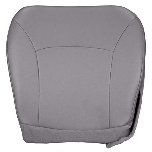 The Seat Shop Driver Bottom Replacement Vinyl Seat Cover - Medium Flint Gray (Compatible with 2004-2008 Ford Econoline E-Series E150, E250, E350) ()