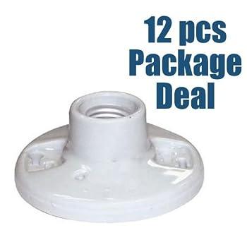 SUNLITE 12pcs E196/CD Porcelain Lamp Holder