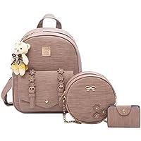 Weilong Teens School Backpack Set Canvas Girls School Bags, Bookbags Set of 3