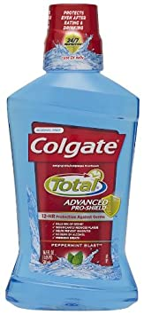 Colgate Total Advanced Pro-shield Mouthwash, 16.9 Ounces, Peppermint, 6 Count