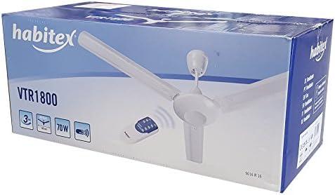 Habitex-Ventilador de techo VTR1800 con mando a distancia: Amazon ...