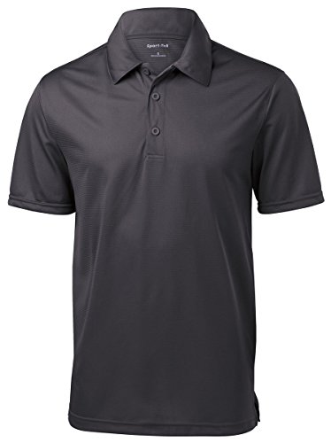 Sport-Tek Mens PosiCharge Active Textured Polo, 2XL, Iron Grey