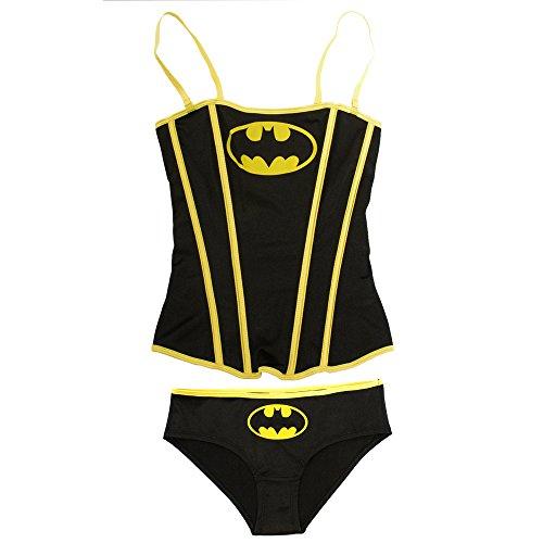 Dc Comics Batman Women's Batgirl Corset with Panty Set (L)