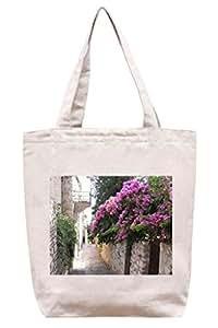 Hvar, Croacia - algodón bolsa para herramientas de lona