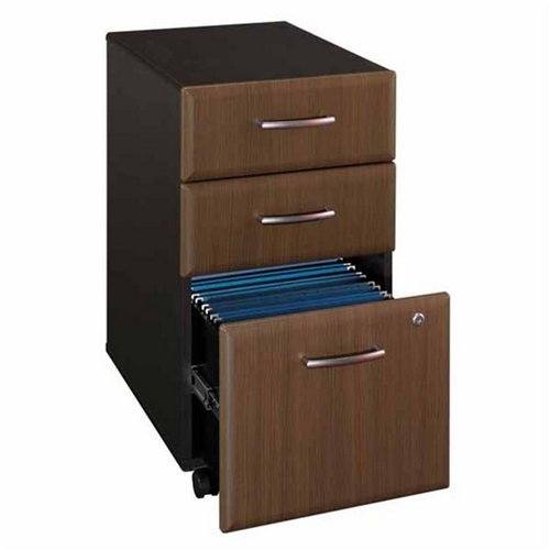 Series a unassembled three drawer mobile file quot w