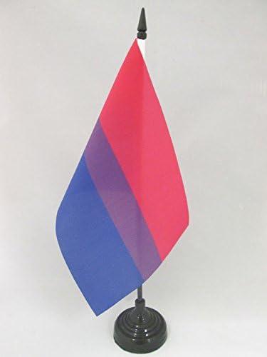 AZ FLAG Bandera de Mesa Arco Iris Bisexual 21x14cm - BANDERINA de ...