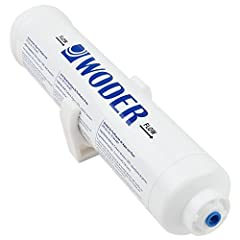 The Best Commercial Inline Water Filter for Ice Makers and RVs.  The Woder 10K-JG Inline Water Filter uses quick-connect JG connectors that fit ALL refrigerators and ice-makes with copper or plastic ¼-inch tubing to ensure a watertight connec...