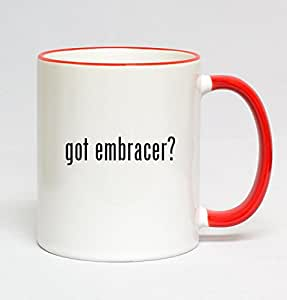 11oz Red Handle Coffee Mug - got embracer?