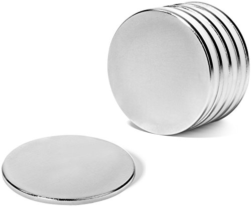 5 Super Strong Neodymium Rare Earth N45 Disc Magnets  1 5 D X 0 08 H   Triple Nickel Coated For Home  Crafts  Therapy  Classroom  Industrial Applications   More By Hold True Magnets