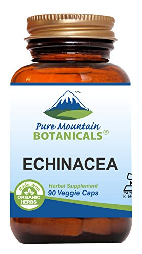 Echinacea Capsules - 90 Kosher Vegetarian Caps - Now with 420mg Certified Organic Echinacea Root Powder - Nature's Super Premium Supplement for Immune (Echinacea Root Complex 100 Capsules)