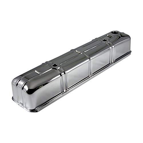 Assault Racing Products A9110 Chevy Straight 6 Inline Six Cylinder Chrome Steel Valve Cover ()