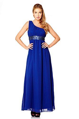 de Bleu paule Evening de Dress My Soire Robe Une Femmes Longueur Royal Plancher x4qgCY