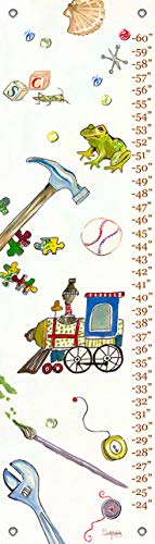 Oopsy Daisy Fine Art for Kids Growth Chart Play by Shelly Kennedy, 12x42