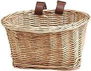 Rattan Bike Basket,Bicycle Front Basket Multifunction Removable Waterproof Bike Handlebar Basket
