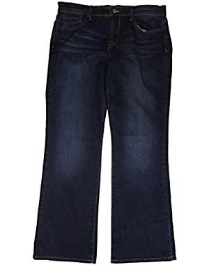 Women's 'Sweet'n Low' Blue Denim Jeans, Boot, Size 4-27/32 Regular