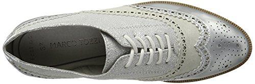 Marco Tozzi 23726, Zapatos de Vestir para Mujer Plateado (Silver Met.com 939)