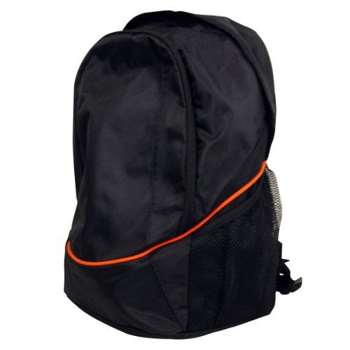 Jungen Rucksack Schulrucksack Schwarz Herren Arbeit Tasche Mädchen Unisex Sport - Keine Angabe, Schwarz / Orange