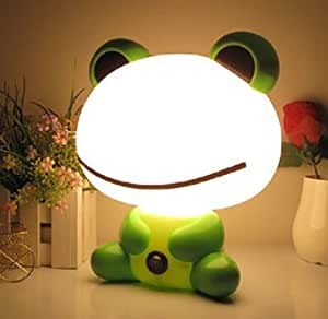 Wontimes Cute Cartoon Bean Frog 20W LED Small Table Lamp Security Lighting Bright Night Light for kids