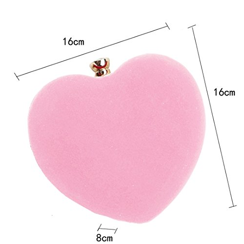 Handbag Party Heart Pink Ashdown Bags Shoulder Women Suede Purse Evening Bag Clutch Shaped Wedding nwwHq10p8