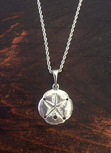 842P Sand Dollar Necklace Pewter ()