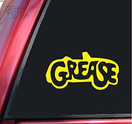 Grease vinyl decal sticker yellow