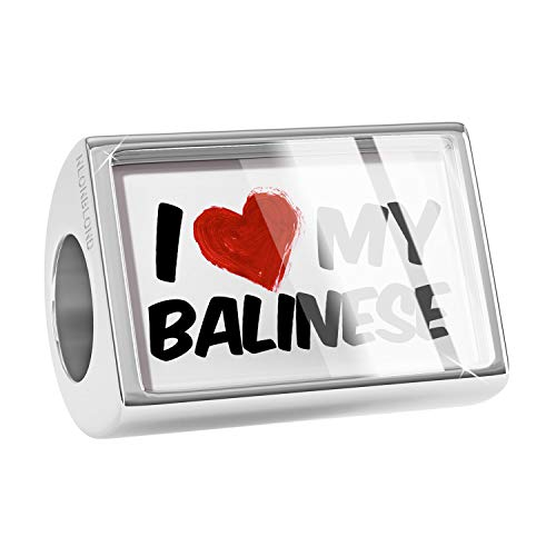 NEONBLOND Charm I Love My Balinese Cat from United States Bead