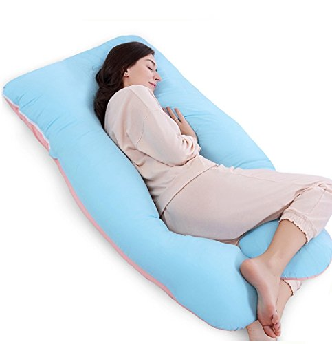 "Large Product Image of QUEEN ROSE 55"" Pregnancy Pillow- Full Body Pregnancy Pillow for Pregnant Women with Washable Outer Cover (Unique B&P)"