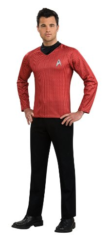 [Rubie's Costume Star Trek Into Darkness Scotty Shirt With Emblem, Red, Medium Costume] (Red Star Trek Dress)