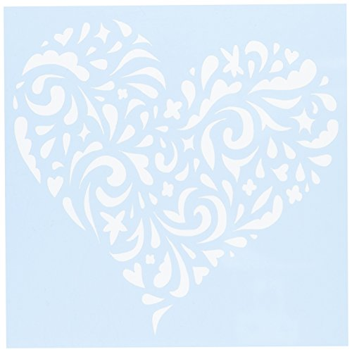 CLEARSNAP Clear Scraps CSSMSWLHEART6 Stencils, 6