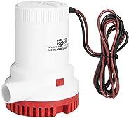 Bilge Pump, 2000GPH Electric Bilge Pump Boat Water Discharge Pump Marine Ignition Protected 12V, Boat Bilge Wa