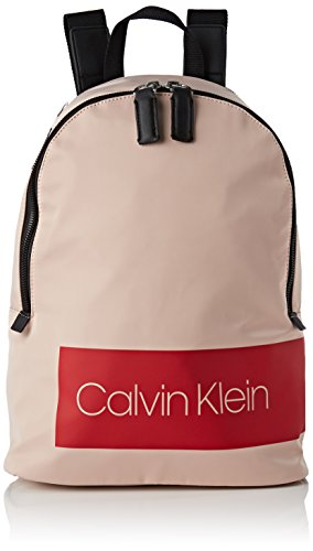 Calvin Klein Jeans Block Out Backpack - Zaini Donna, Beige (Nude), 14x36x33.5 cm (B x H T)