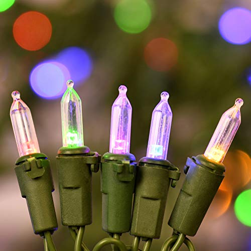 Variable Color LED Christmas String Lights, 133 Ft 200 LED Color Changing Christmas Tree Light Set, Adapter with Functions Controller Warm White/Multicolor & Multiple Flashing Mode (133 Ft 200 LED) (Tree Christmas With Led Lights Changing)