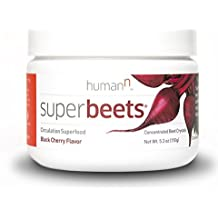 SuperBeets - Circulation Superfood - Premium Nitric Oxide Booster - Non-GMO Nitrate Rich Beet Root Powder - Black Cherry Flavor - 5 ounce 30 servings