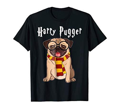 Funny Harry Pugger Magic Wizard Pug T-Shirt Pug Dog Gift