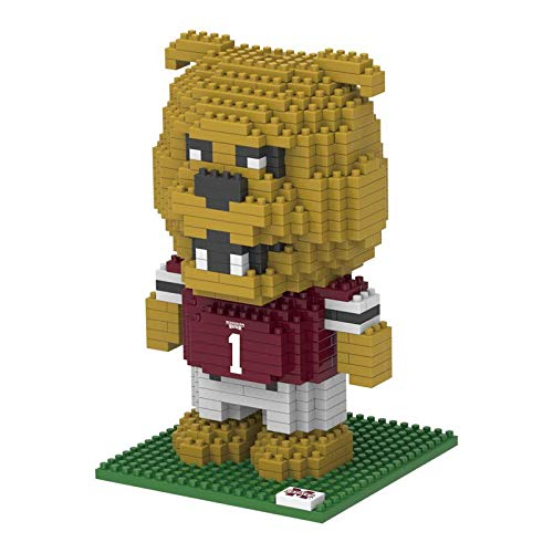 FOCO NCAA Mississippi State Bulldogs 3D Brxlz Mascot Building Blocks SET3D Brxlz Mascot Building Blocks Set, Team Color, One Size