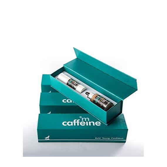 mCaffeine Coffee Prep Gift Kit | Sun Protection, Relieves Dark Circles | Face Serum, Under Eye Cream | All Skin | Paraben & Mineral Oil Free